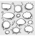 collection empty comic speech bubbles vector image