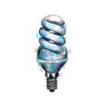 energy saving light bulb vector image vector image