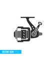 fishing reel icon in silhouette flat style vector image vector image