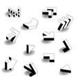 flat design isometric arrow icon set vector image vector image