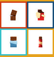 flat icon sweet set of wrapper sweet shaped box vector image vector image