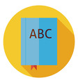 Flat Reading Book with Bookmark Circle Icon with vector image vector image