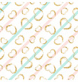 gold heart seamless pattern white-blue-pink vector image vector image