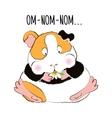 Guinea pig eats a Daisy vector image vector image