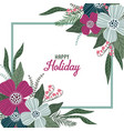 happy holiday template for cards and banners with vector image vector image