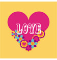 hippie scenery cartoon love vector image vector image