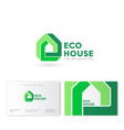 house logo impossible building property real estat vector image vector image