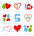 icons of love vector image vector image