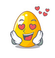 in love simple gold egg on design character vector image vector image