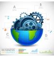 Industrial Infographics Chart vector image vector image