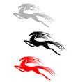 Jumping mustang symbol vector image vector image
