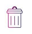 line trash can symbol icon vector image vector image