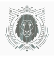 Lion head in frame vector image vector image