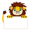 Lion with poster vector image