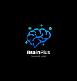 logo brain plus gradient colorful style vector image