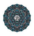 mandala yoga aura art vector image vector image