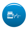 medicament icon blue vector image