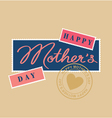mothers day hand lettering postage stamp vector image vector image