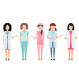 nurse or female doctor medical workers isolated vector image