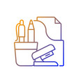 office supplies gradient linear icon vector image vector image