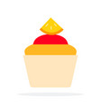 orange muffin flat material design isolated vector image vector image