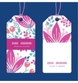 pink flowers vertical stripe frame pattern vector image vector image