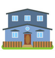 private house with a blue walls vector image vector image