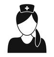 professional nurse icon simple style vector image vector image