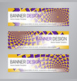 purple yellow web header abstract banner vector image