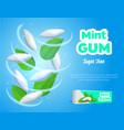 realistic detailed 3d mints gum ads vector image