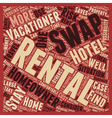 Rental Swaps text background wordcloud concept