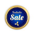Retro promotion sale tag banner label vector image vector image