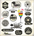 Retro style travel and vacation labels vector image vector image