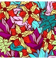 Seamles background with bright floral pattern of vector image vector image