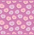 seamless flower pattern with pink and lilac wild vector image vector image