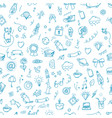 seamless patter doodle elements background vector image vector image