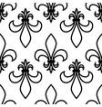seamless pattern fleur de lis linear graphics vector image vector image