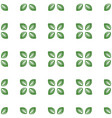 Seamless white pattern with green leaves