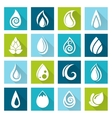 Set of water drops icons vector image vector image