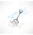 shovel grunge icon vector image vector image