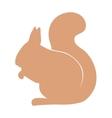 Silhouette squirrel wild animal zoo vector image vector image