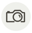 simple outline photo camera icon vector image