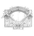 Smelting furnace vintage vector image