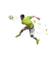 soccer player best of kicking ball vector image vector image