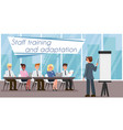 staff training and adaptation vector image