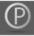 The letter P Polygonal letter Abstract Creative vector image