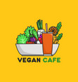 vegetables and fruit good for vegan symbol or vector image vector image