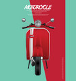 Vintage motorcycle isolated
