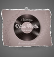 Vintage vinyl music ilustration vector image