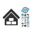 Warehouse Flat Icon with Bonus vector image vector image